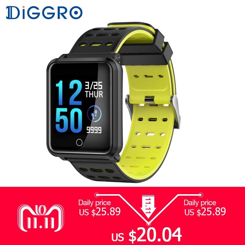 Diggro N88 Smart Uhr Farbe Bildschirm IP68 Wasserdicht Herz Rate Blutdruck Monitor Austauschbare Armband Für Android IOS