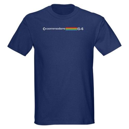 Men2017 Лето 100% хлопок Commodore 64-темно-мужские короткий рукав o-образным вырезом мужской Best продаж футболка