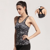 Women Gym Fitness Yoga Shirts Running Elastic Breathable Dry Quick Yoga Vest Female Sleeveless Backless Tank Tops GYM Shirts
