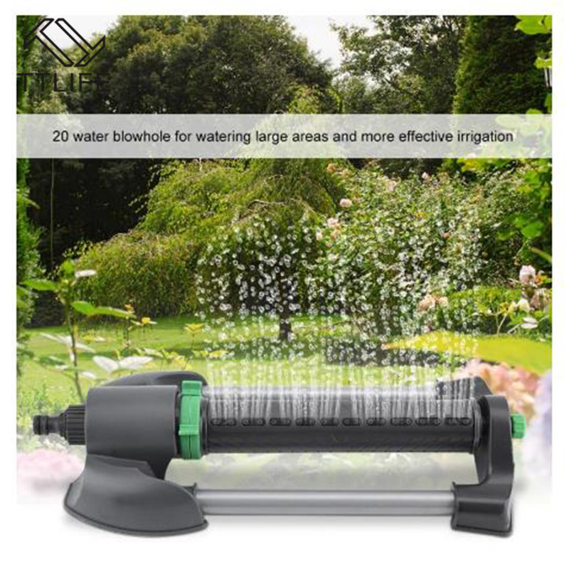 Automatic Oscillating Sprinkler Watering Irrigation Tool for Lawn Garden Irrigation Lawn Spray Head Garden Supplies Black in Garden Sprinklers from Home Garden