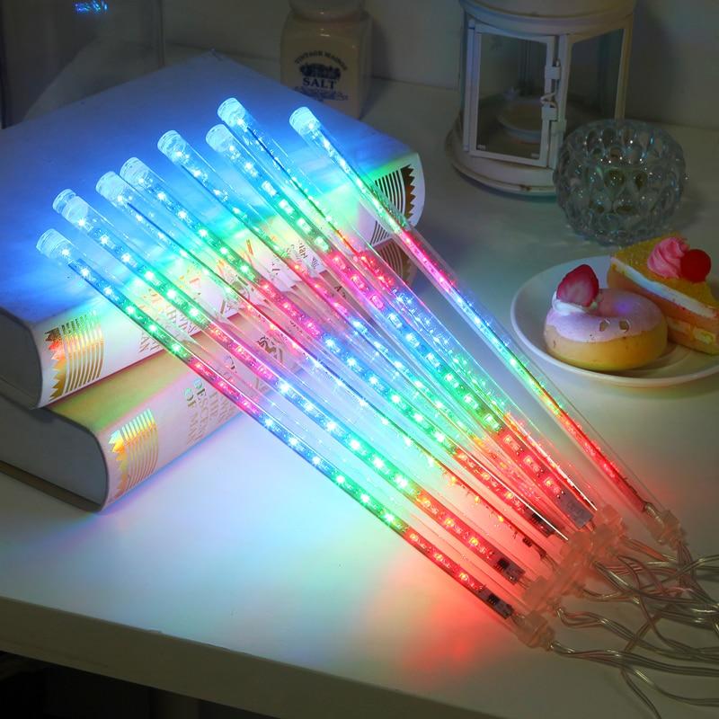 Multi-color 20CM Meteor Shower Rain Tubes AC100-240V LED Christmas Lights Wedding Party Garden Xmas String Light Outdoor