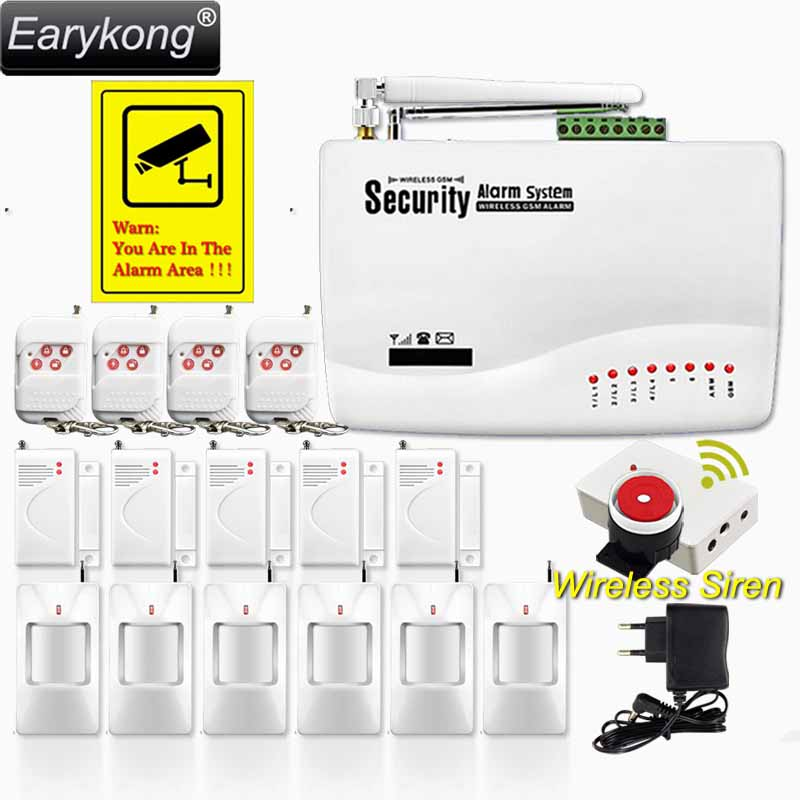 GSM01 Wireless/wired Phone SIM GSM Home Burglar Security GSM Alarm System English Russian Spansih Voice Prompt Alarm Sensor kit