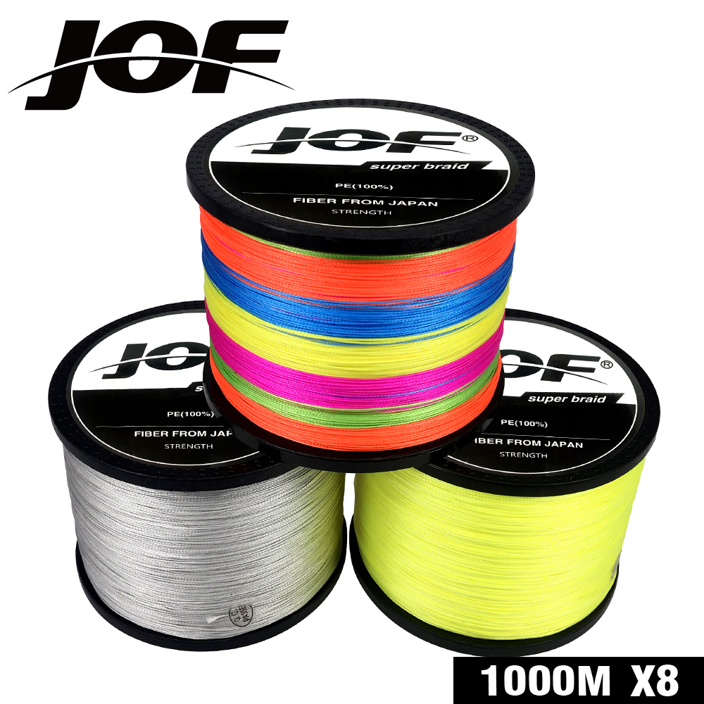 2019 NEW Fishing Line <font><b>8</b></font> Strands 4 Strands PE Braided 300m 500m 1000m Multifilament Fishing Line Rope peche carpe Wire 18-88LB image
