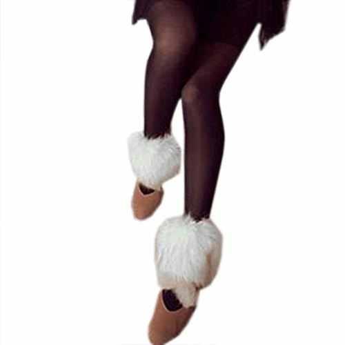 Ví Nữ 1 15cm Lông Thú Giả Hạ Chân Giày Mắt Cá Chân Giày màu Đen/Xám/Trắng