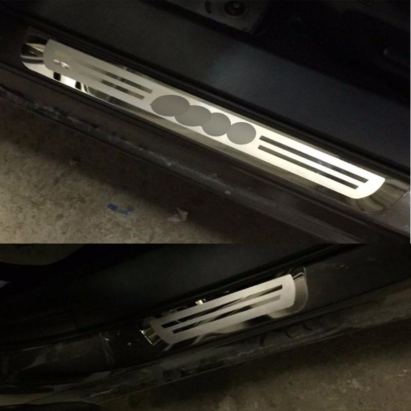 Ультратонкие дверные пороги из нержавеющей стали, приветственные педали для Mazda 6, наклейки для стайлинга автомобилей, автомобильные аксессуары
