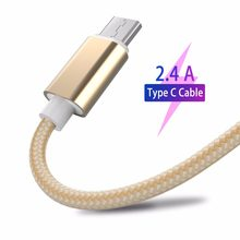 USB Tipe C Kabel 2.4A Cepat Pengisian Smartphone Android Data Sync Transfer Charger Kabel Nilon untuk Samsung Galaxy S9 S8 + Catatan 9 8(China)