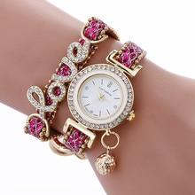 FanTeeDa Brand Fashion Luxury Women Wristwatch Watches Love Word Leather Strap Ladies Bracelet Watch Casual Quartz Watch Clock цены