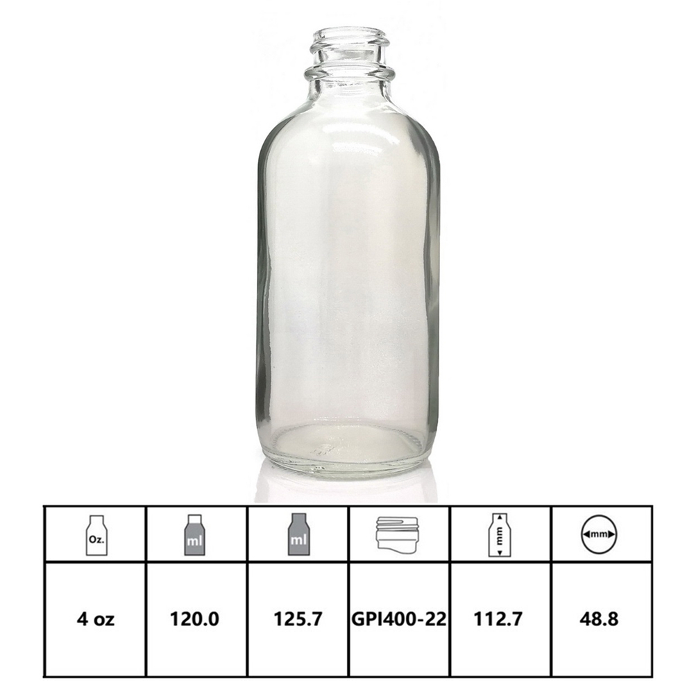 Купить с кэшбэком 4pcs 4 Oz Clear Glass Bottle for Essential oils 120ml with glass eye dropper dispenser empty refillable chemistry lab chemicals