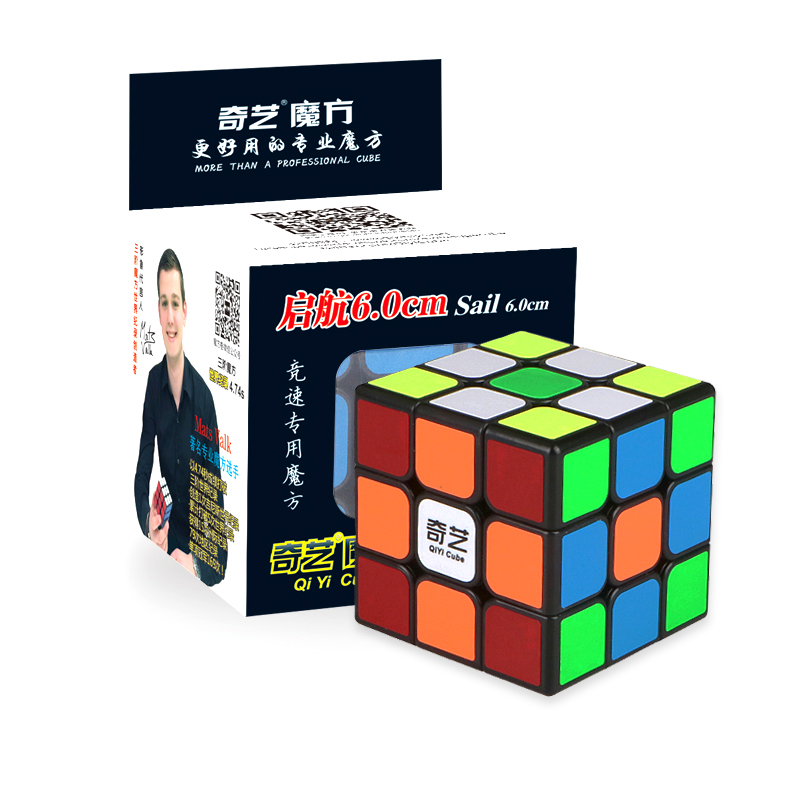 QIYI Professional 3x3x3 6.0CM Speed For Magic Cube Puzzle Fidget Cube Neo Cubo Magico Sticker For Children Adult Education Toy цены
