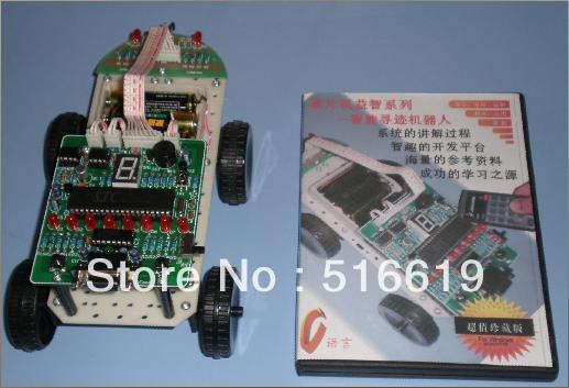 Робот автомобиль обучения микроконтроллер 51 электронный production suite сыпучих, diy Электронный production suite