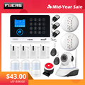 FUERS WG11 WIFI GSM Draadloze Home Business Inbreker Alarmsysteem APP Controle Sirene RFID Bewegingsmelder PIR Rook Sensor