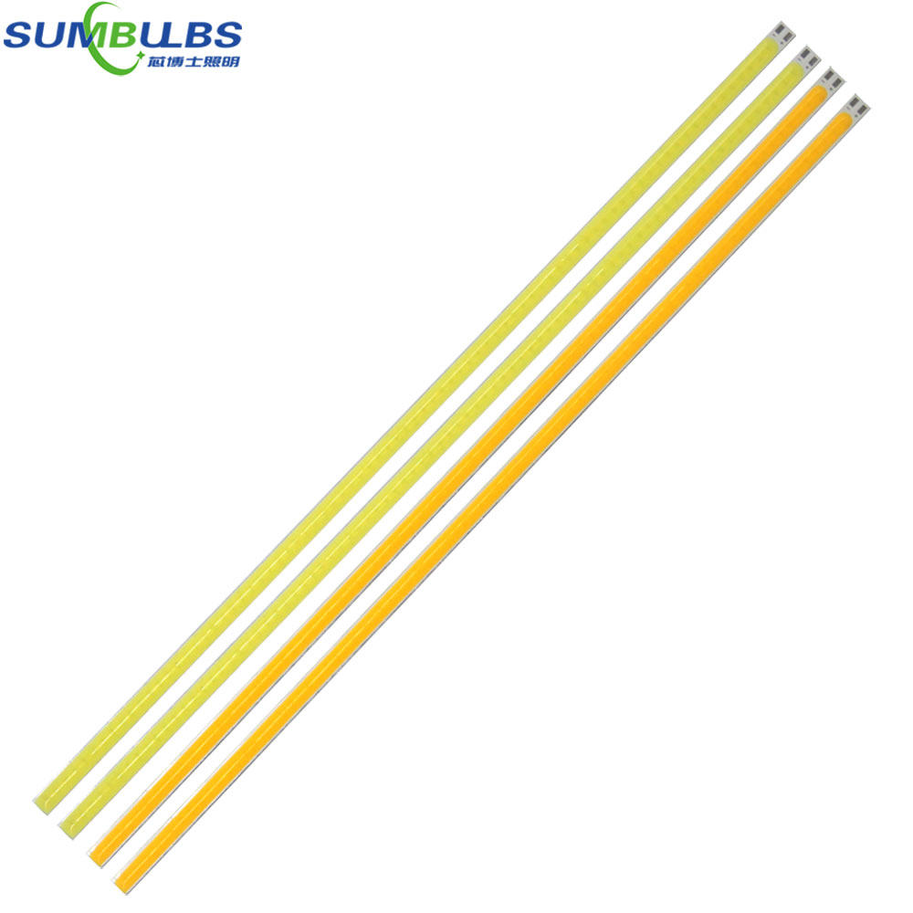 10pcs/lot 400*6MM Strip LED COB Bulb 12V 40CM Bar Light Source for Car Lighting Indoor O ...
