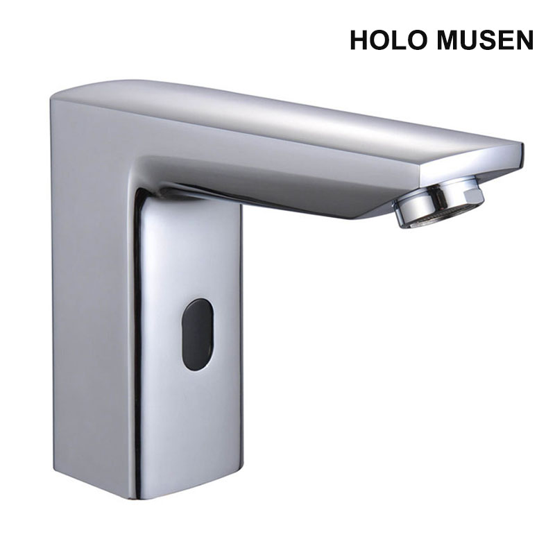 Touch Free Water Saving Chrome & Golden Automatic Sensor Tap Hot and Cold Mixer Infrared Sensor Faucet For Bathroom