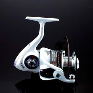 Image 4 - High Quality Brand 14BB Fishing Reel CNC Rocker Arm Spinning Reel White Color Carp Fishing Feeder Reel Fishing Fishing Tackl