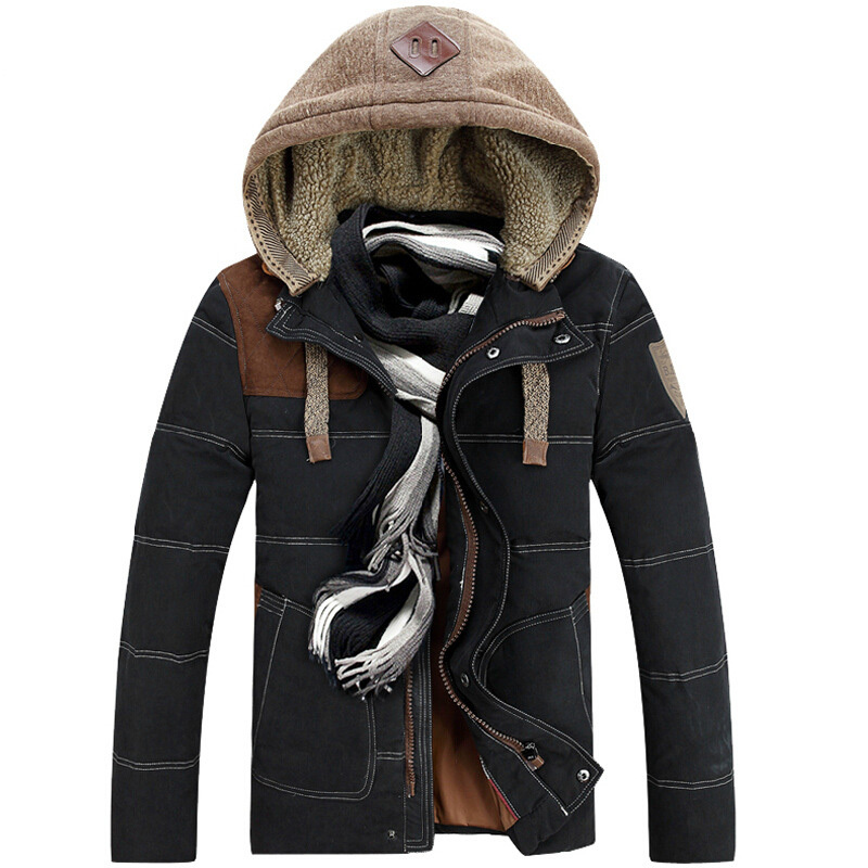 New winter keep warm new fashion casual patchwork ...