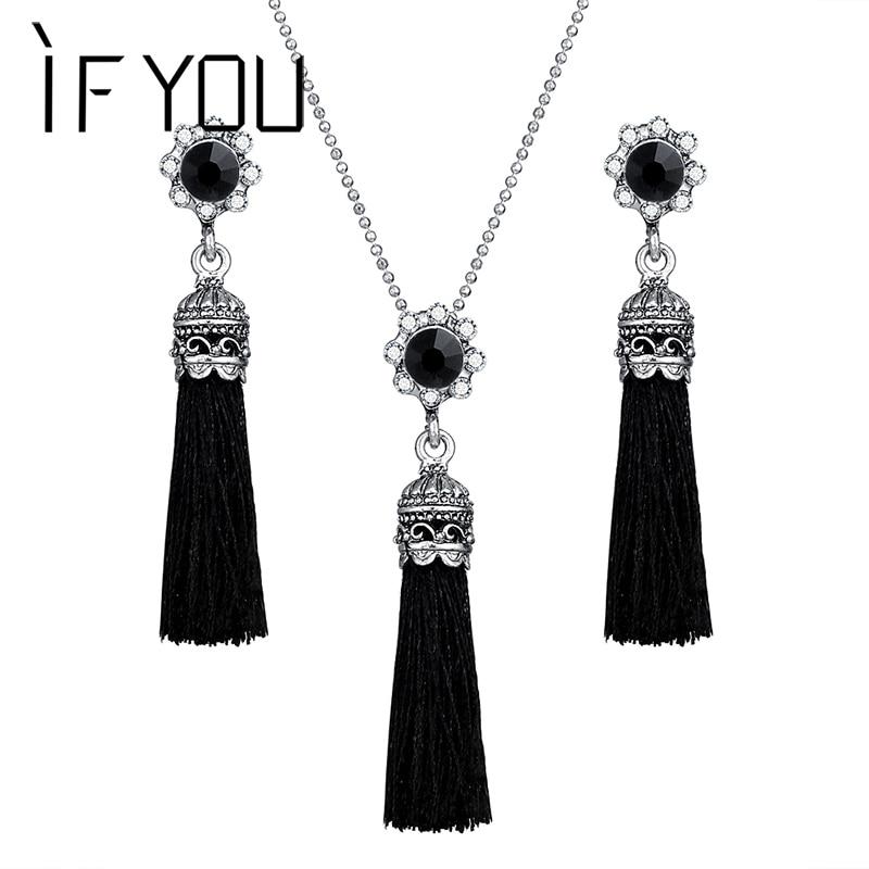 IF YOU 1 Pair Fashion Tassel Drop Jewelry