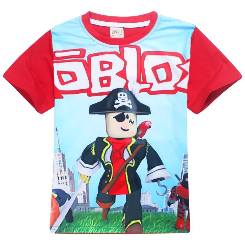 2018 New fortnite ROBLOX Boys T Shirt Kids Summer Clothes Children Game T-shirt Girls Cartoon Tops Tees pattern 4-12Y