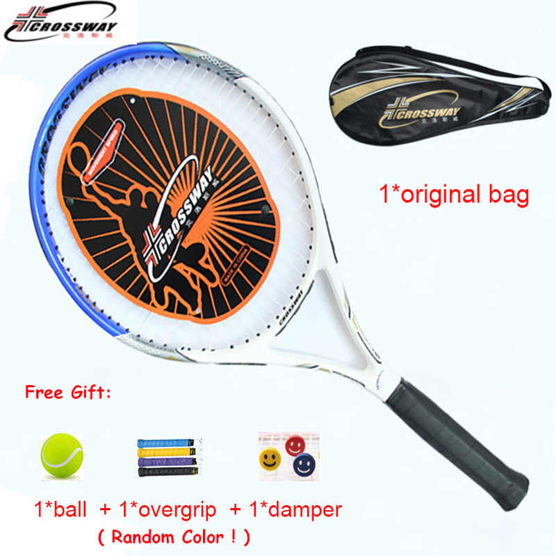 1 Piece Racket Tennis Carbon Profesional Padel Racquet Sports Training Bat With Bag String Overgrip Dampener Ball Pickleball Men
