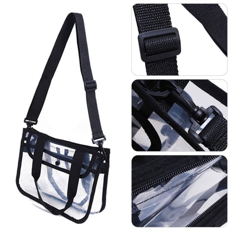 Купить с кэшбэком Women Summer  PVC Shoulder Bag Handbag Travel Tote Cosmetic Beach Toiletry Storage Case