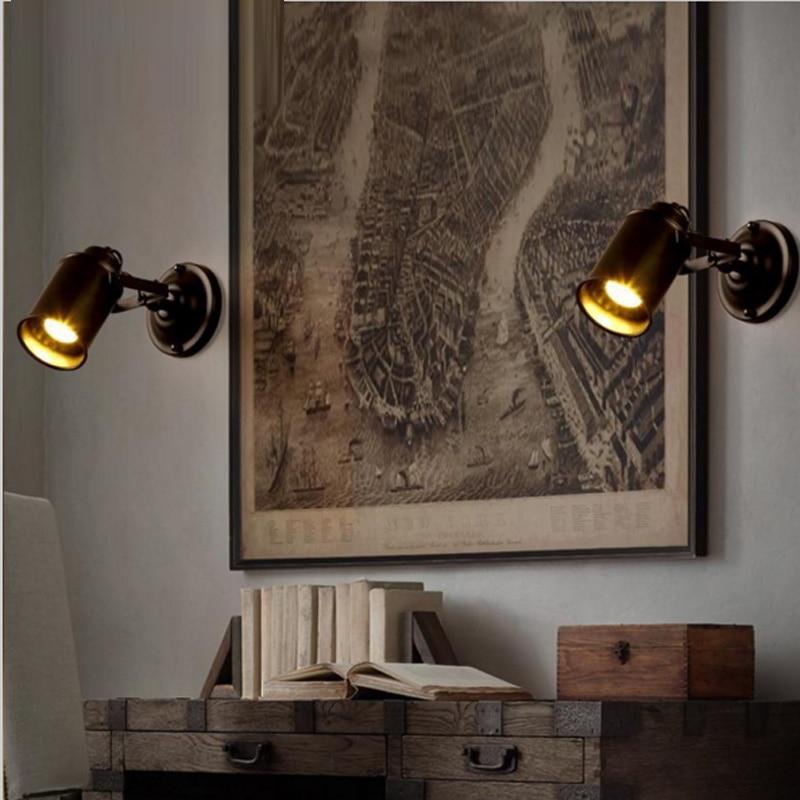 Здесь продается   Vintage American style wall lamp led reverse wall sconces for the bedroom study room indoor studio desk laser projector lights  Свет и освещение