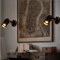 Vintage American style wall lamp led reverse wall sconces for the bedroom study room indoor studio desk laser projector lights