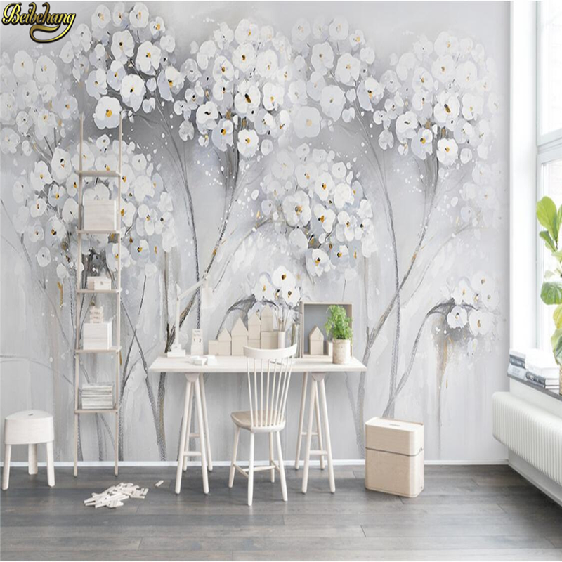 Elegant Wallpaper For Wall: Beibehang Custom Photo Wallpapers Large Mural Wall