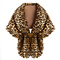 New Winter Luxury Soft Faux Fur Collar Women Scarf Leopard Long Cape Pashmina Warm Wrap Stole Elegant Shawl echarpe Scarves