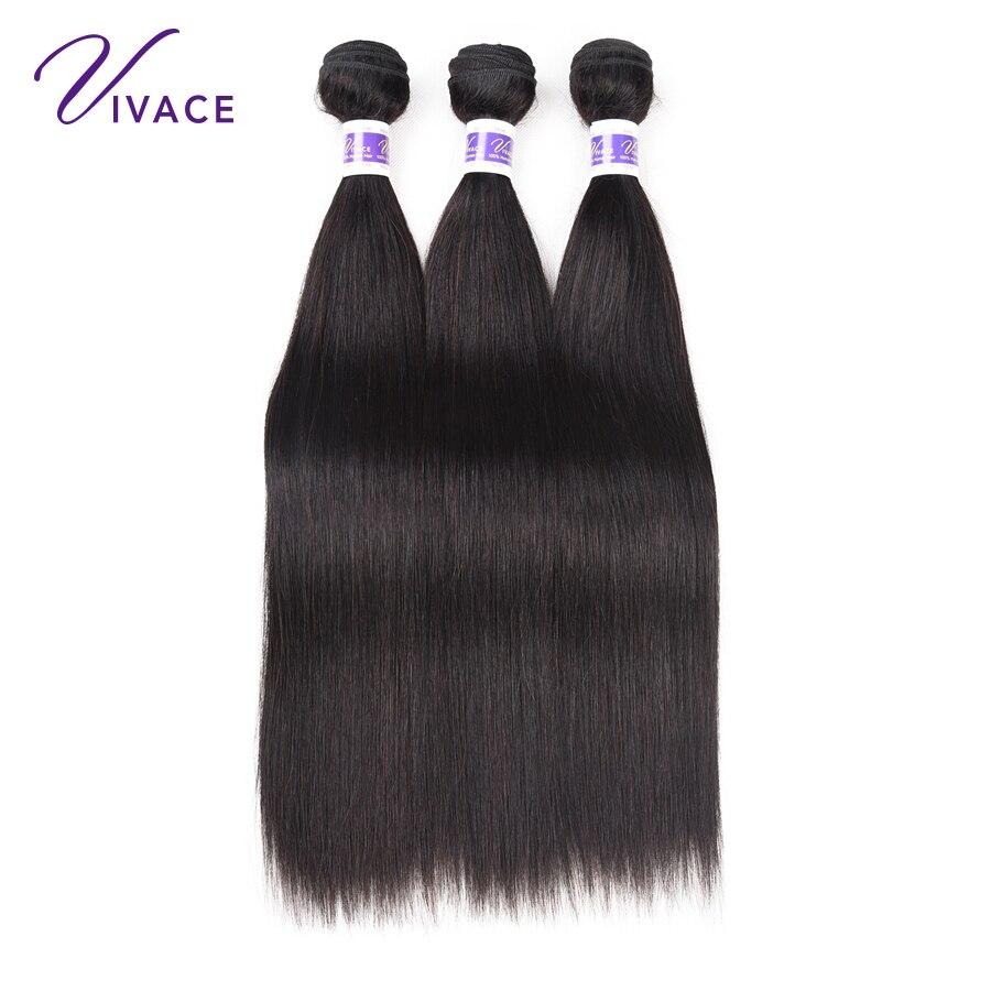 VIVACE Hair Brazilian Straight Mänskliga Hårvävspapper Human Hair - Mänskligt hår (svart) - Foto 4