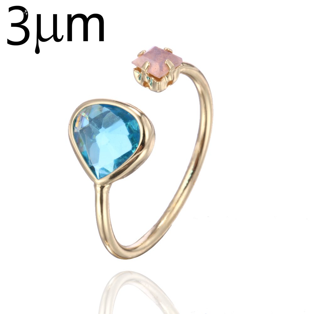 3um March Birthstone Ring Personalized Blue Family Glass Birthstone Pink  Cubic Zircon Ring For Her Mother Gift Etsy Midi Jewelry