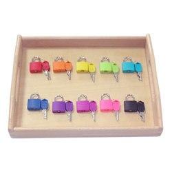 Montessori bandeja de madeira fechaduras conjunto brinquedos sensoriais educativos para crianças montessori preschool sensorial materiais juguetes ml1344h