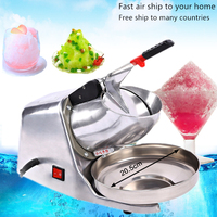Electric Ice Crusher Smoothie Shaver Dual Blade commercial electric crushed ice machine for tea and Beverage shop