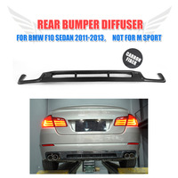 Rear Bumper Diffuser Lip Carbon Fiber / FRP for BMW 5 Series F10 F18 Standard Bumper 2011 2013 Car styling