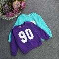 Nova Moda crianças roupas Esporte Meninos Meninas Hoodies roupas 100% Algodão cor sólida com capuz camisolas bebés meninos hoodies outwear