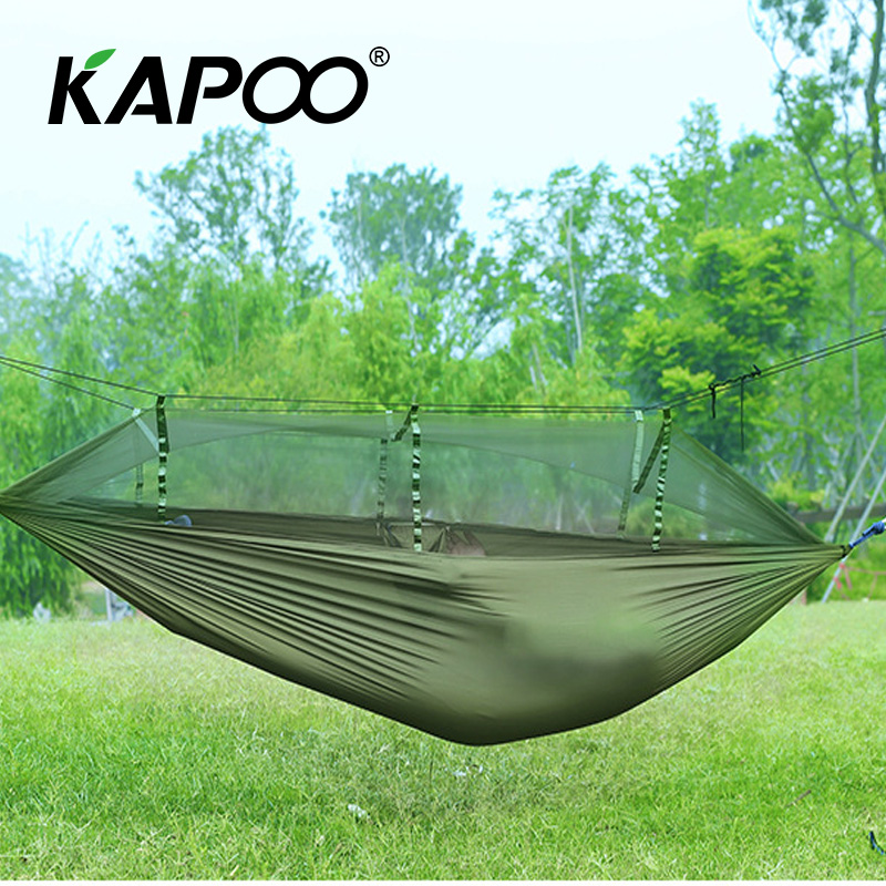 Portable leisure outdoor hammock parachute hammock outdoor furniture picnic mat camping hammock soft Mosquito Hammock blue leisure outdoor hammock portable parachute hammock outdoor furniture single double hammock picnic mat camping hammock