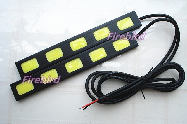 10W high power 5COB*2 led DRL waterproof daytime running lights, cold white black aluminum fog lights, driving lights