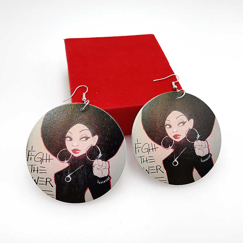 YD & YDBZ 2019 новые женские висячие серьги пара деревянных сережек праздничный подарок в стиле панк Висячие ювелирные изделия подарок для девушек готические серьги