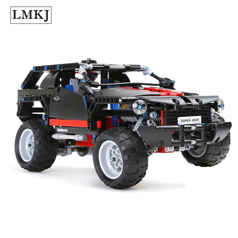 589pcs Hot 3341 Transport Cruiser SUV Racing Car Model Building Block Bricks Educational Toys for Boys Compatible with Legoingly pop king steerer transport cruiser suv technic truck model building blocks racing car bricks toys for children compatible lepin