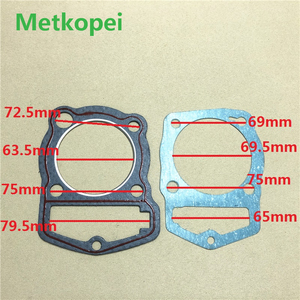 motorcycle CB200 WY200 LF200 cylinder block gasket piston diameter 63.5mm for Honda Lifan 200cc CB WY 200 engine seal parts(China)