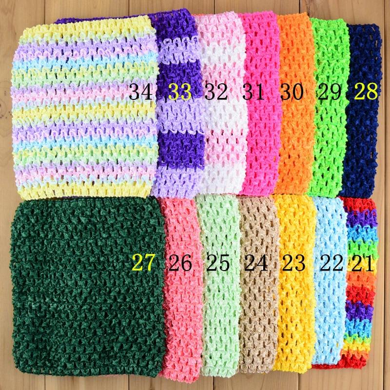 ộ_ộ ༽30 unids/lote 6 crochet Tutu Tops ganchillo Bandas para la ...