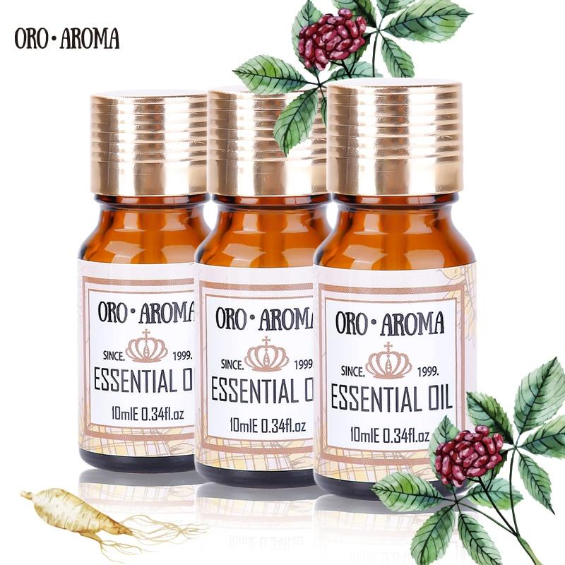 Marca famosa oroaroma lirio Vetiver Pino aguja aceites esenciales paquete para aromaterapia, masaje, Spa, baño 10ml * 3