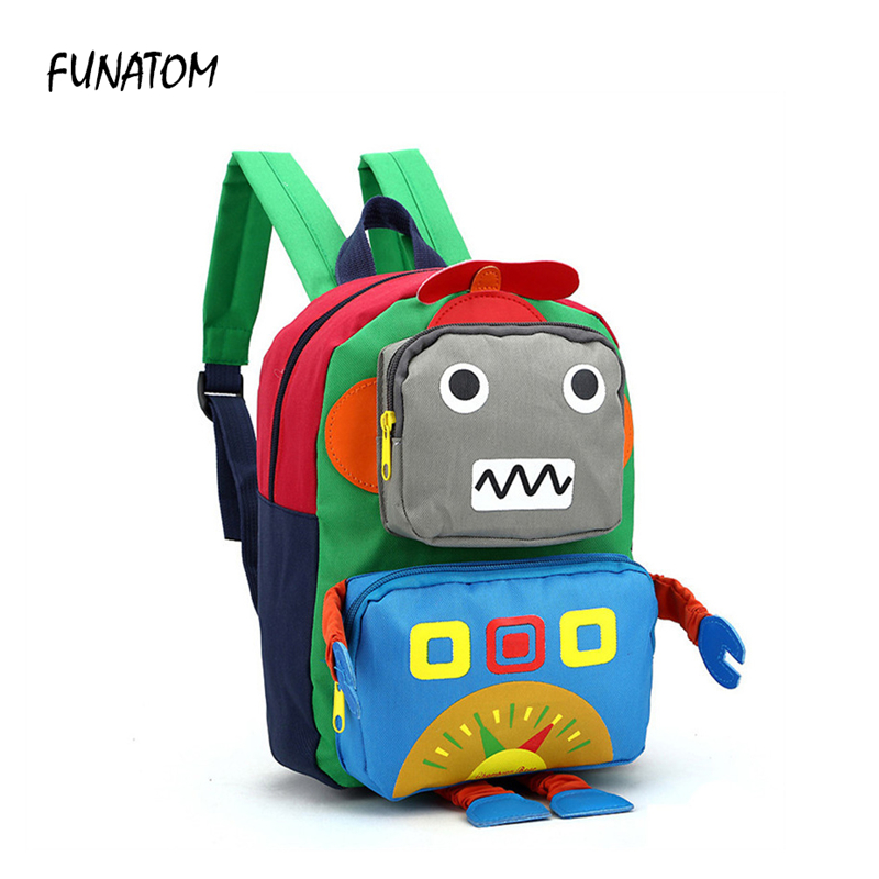 2018 hot new children school bags for teenagers boys girls big capacity school backpack waterproof satchel kids book bag robot