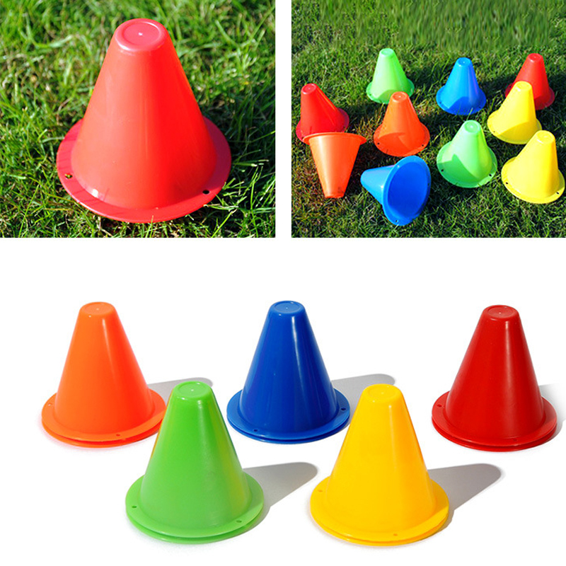10pcs Football Rugby Speed Training Cones Pylons Road Barricades Traffic Cone Obstacle Pile