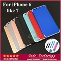 """Новый Для iPhone 6 Как 7 4.7 """"красочные матовой угольно-черный Металлический Корпус Назад Крышка Корпуса Дверь Батареи Замена Как i7 стиль"""