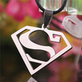 2017 Superman Logo-Shaped S Pendant Stainless Steel Tritium Necklace Leather Neckless Man Friendship Anime Jewelry