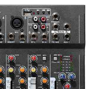 Image 4 - LEORY Professional Karaoke Audio Mixer 7 Channel Digital Microphone Sound Mixing Amplifier Console With USB 48V Phantom Power