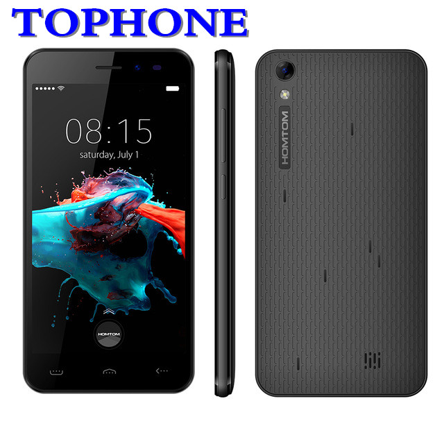 Original HOMTOM HT16 Smartphone 3G WCDMA Android 6,0 Quad Core MTK6580 teléfono móvil 5,0