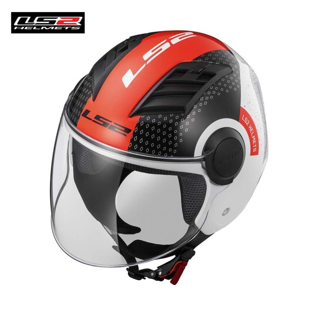 LS2 flux d'air L Moto Jet Casque Scooter Face ouverte Casque Capacete Casco Moto pour Vespa casques Casque Kask moteur XXXXL