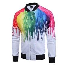 2017 Spring Men Coat Hot sale colorful printing large space cotton men jacket size M – XXXL