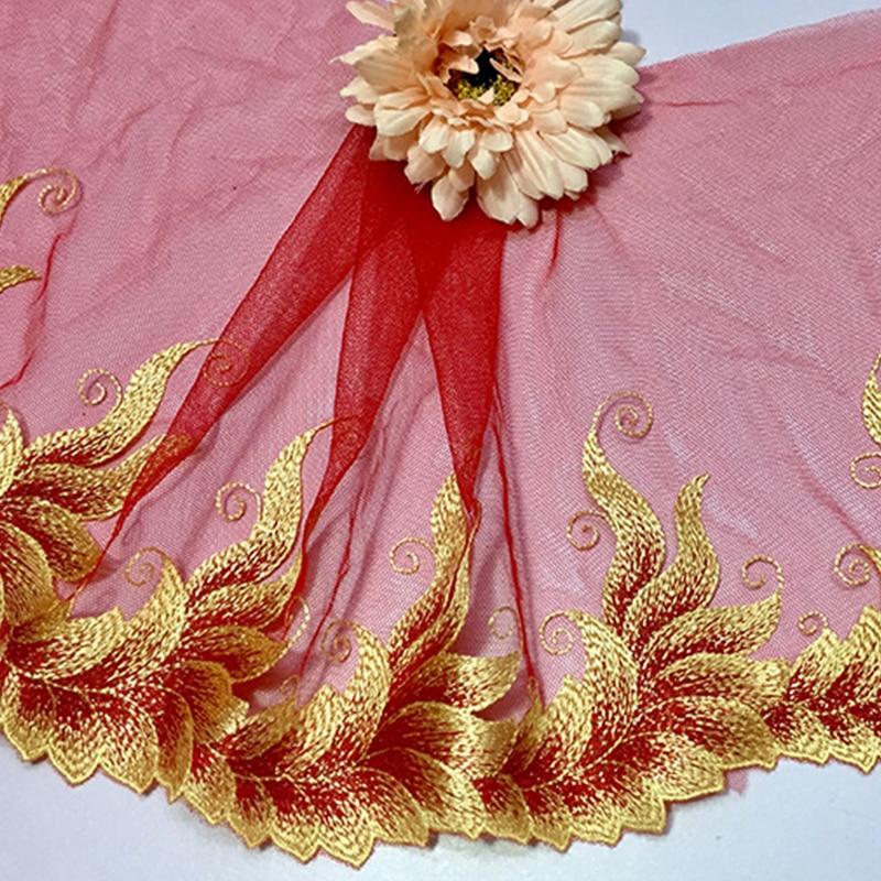 32cm Wide 2 Meters Black Lace Trim Cut Cutting Handmade Diy Craft Needlework Sewing Dress Sewing Fabric Cloth