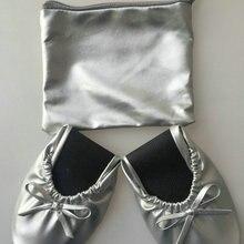 Большая скидка! ; Модные женские складывающиеся туфли на плоской подошве; складывающиеся балетные туфли для свадьбы, вечерние и праздничные туфли